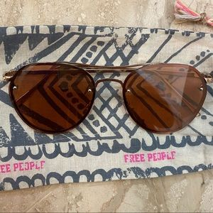 Free People Reflective/mirror sunglasses